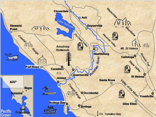 Map Of Jenner California.Jenner California Why Cycle Napa And Sonoma Lifecyle Adventures