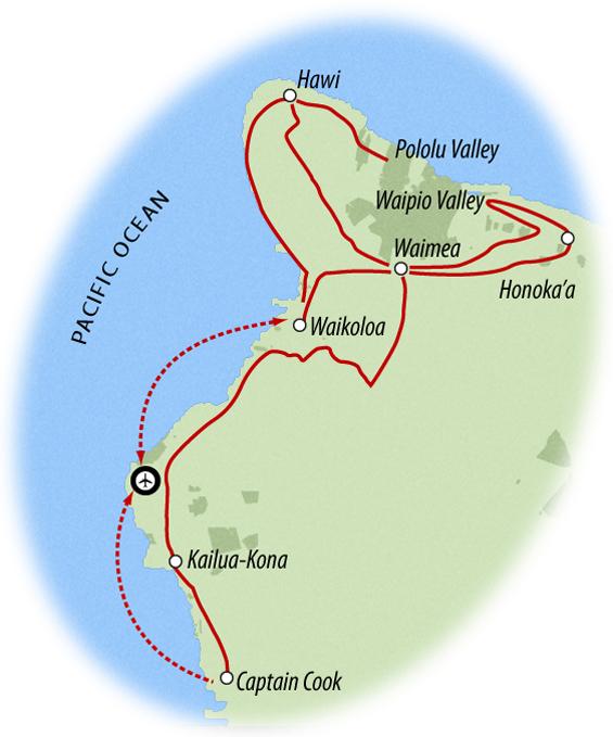 Hawaii Bike Map - Big Island