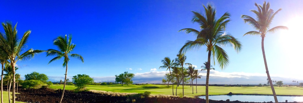 Beautiful Day on Hawaii Golf Course